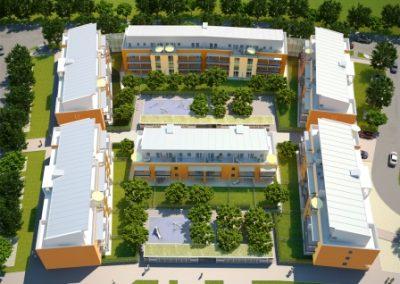 Wohnpark Poing 3D Luftansicht